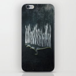 zebrex - the tyrex who wanted to become a zebra  iPhone Skin