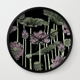 Be the lotus Wall Clock