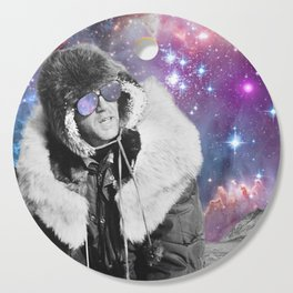 People of the Universe-Space Glasses-Purple Cutting Board