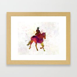 Horse show 03 in watercolor Framed Art Print