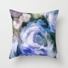 Blue rose. Throw Pillow