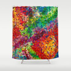 Color Theory Clash Shower Curtain