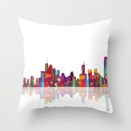 Brisbane Skyline 1 Throw Pillow