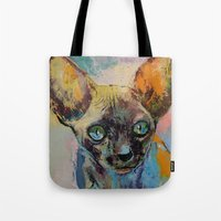 sphynx Tote Bags featuring Sphynx by Michael Creese