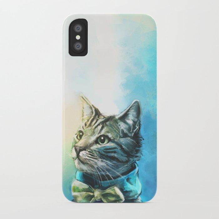 Handsome Cat iPhone Case