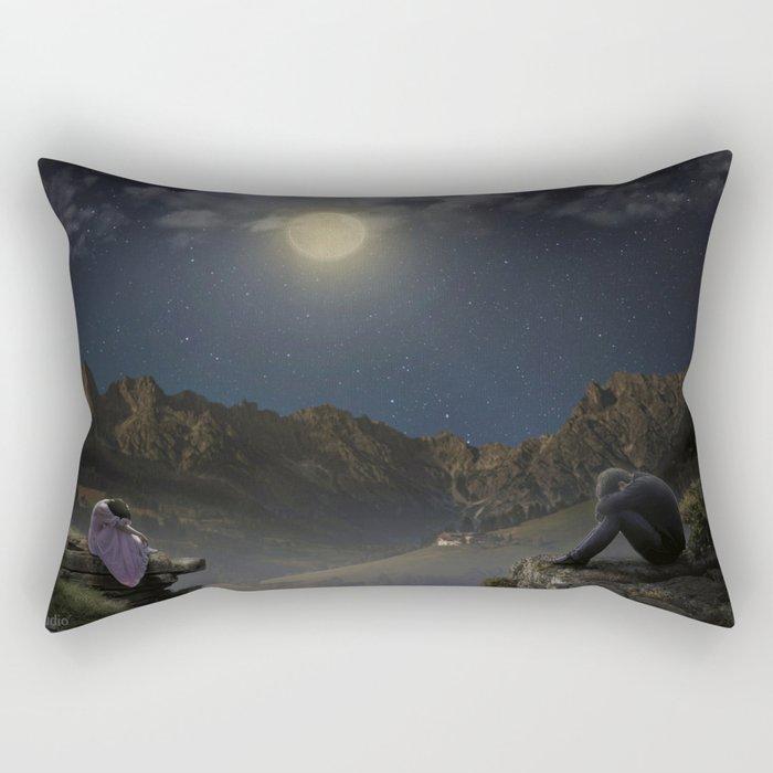 Sadness in the moonlight Rectangular Pillow