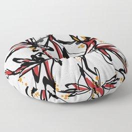 Tropical white Floor Pillow