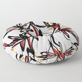 Tropical white Floor Pillow
