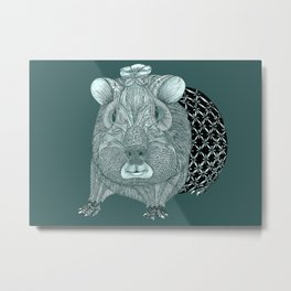 Ms Guinea Pig is dressed up and ready to go party Metal Print