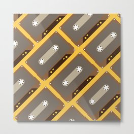 Pattern - Cassette Tapes Metal Print