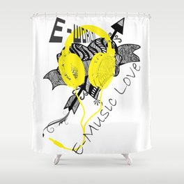 E-World (E-Music Love) Shower Curtain