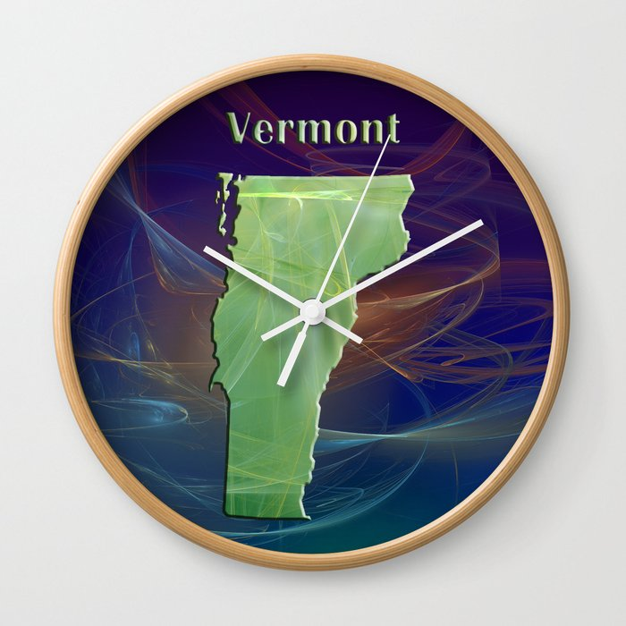 Vermont Map Wall Clock