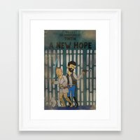 tintin Framed Art Prints featuring rare tintin comic by space boy studios