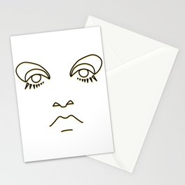 Swinging Sixties - black and yellow Stationery Cards