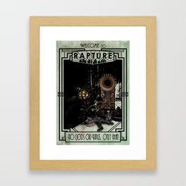 Welcome to Rapture Framed Art Print