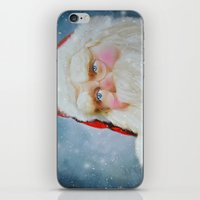 santa iPhone & iPod Skins featuring Santa by Mary Timman