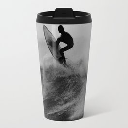 Surf black white Travel Mug