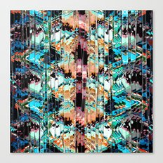 Colorful Abstract In Shreds Canvas Print