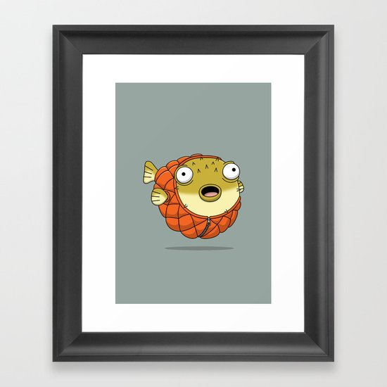 Puffer fish Framed Art Print