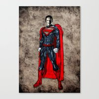 man of steel Canvas Prints featuring Steel Man by UvinArt