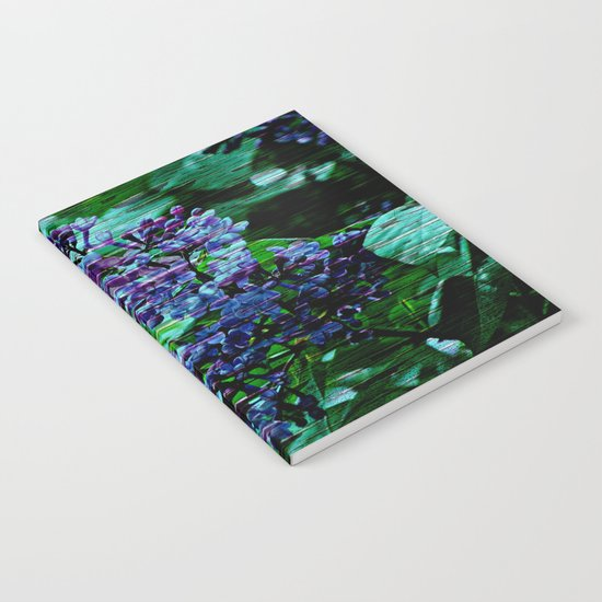 Vintage Textured Painted Lilac Notebook