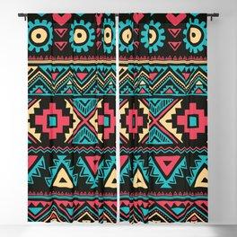 Tribal vintage ethnic illustration pattern Blackout Curtain