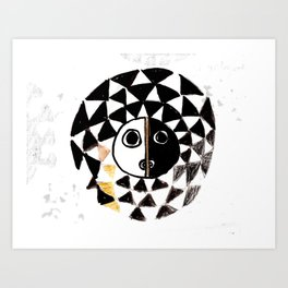 African Sun Mask Art Print