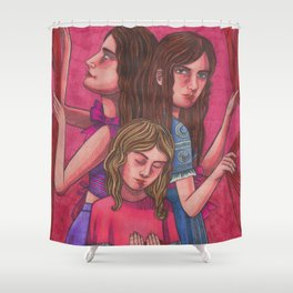 Clock Sisters (Moirai) Shower Curtain