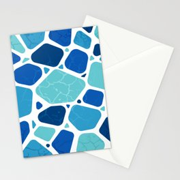 drylands in cool blues Stationery Cards