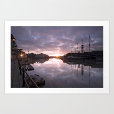 Dawn at the Docks Art Print