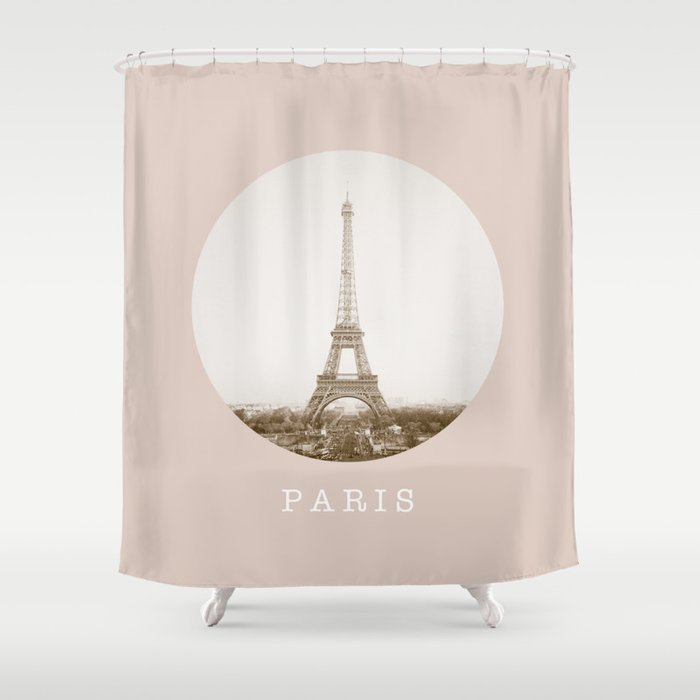 PARIS Eiffel Tower Shower Curtain By Factory86