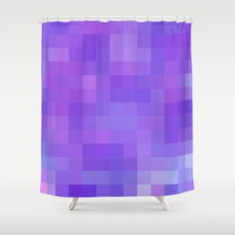 Re-Created Colored Squares No. 20 by Robert S. Lee Shower Curtain