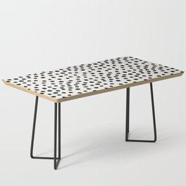 Preppy brushstroke free polka dots black and white spots dots dalmation animal spots design minimal Coffee Table