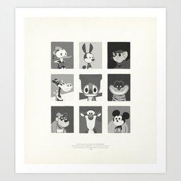 Super Mercredi Bros Heroes (1/8) Art Print