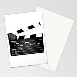 Our Family Clapperboard Stationery Cards