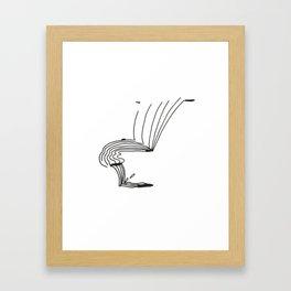 Lines That Fall Framed Art Print