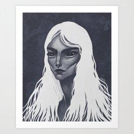 White Haired Art Print