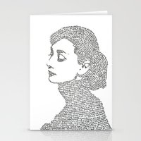 hepburn Stationery Cards featuring Audrey Hepburn by S. L. Fina