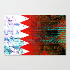 circuit board bahrain (flag) Canvas Print