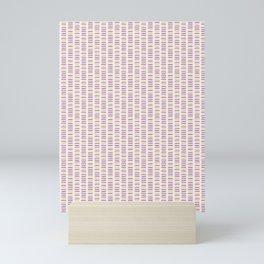 Hand drawn vector line pattern Mini Art Print