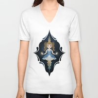 starry night V-neck T-shirts featuring Starry by NuriaDrella