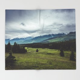 Mountain Trail - Landscape and Nature Photography Throw Blanket