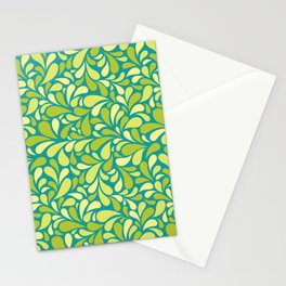 Drops of green Stationery Cards