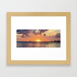 Biscayne Sunset Framed Art Print