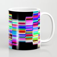 computer Mugs featuring Hello Computer by NatalieCatLee