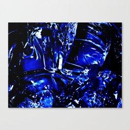 Liquid Cobalt Metal Canvas Print