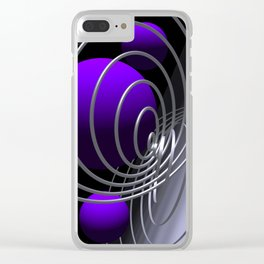 go violet -07- Clear iPhone Case