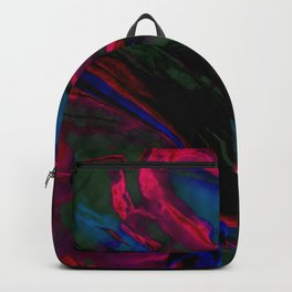 Dark Neon Marble Design Backpack