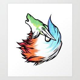 Wind Elemental - Wolf Art Print