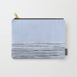 Blue abstract pattern . Lines 3 Carry-All Pouch